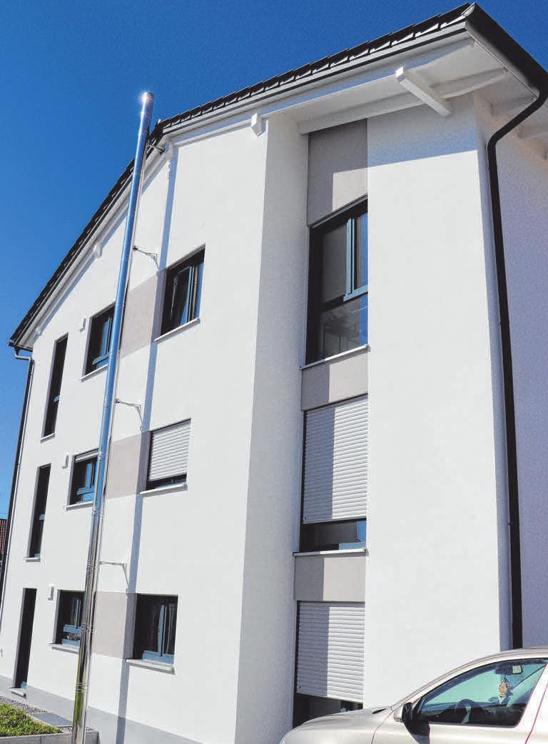 Die Wohnanlage definiert sich durch ein klares architektonisches Konzept.