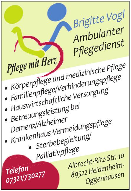 Brigitte Vogl Ambulanter Pflegedienst