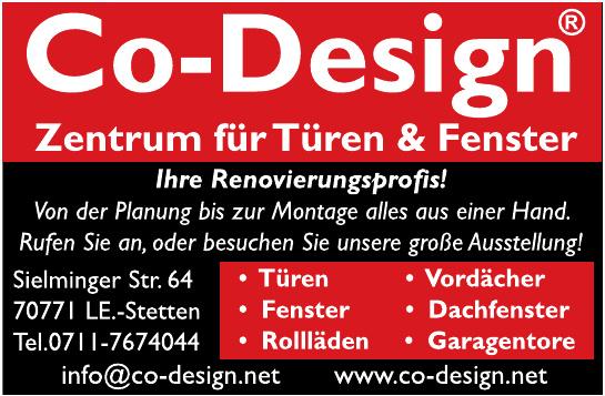 Co-Design, Zentrum für Türen und Fenster