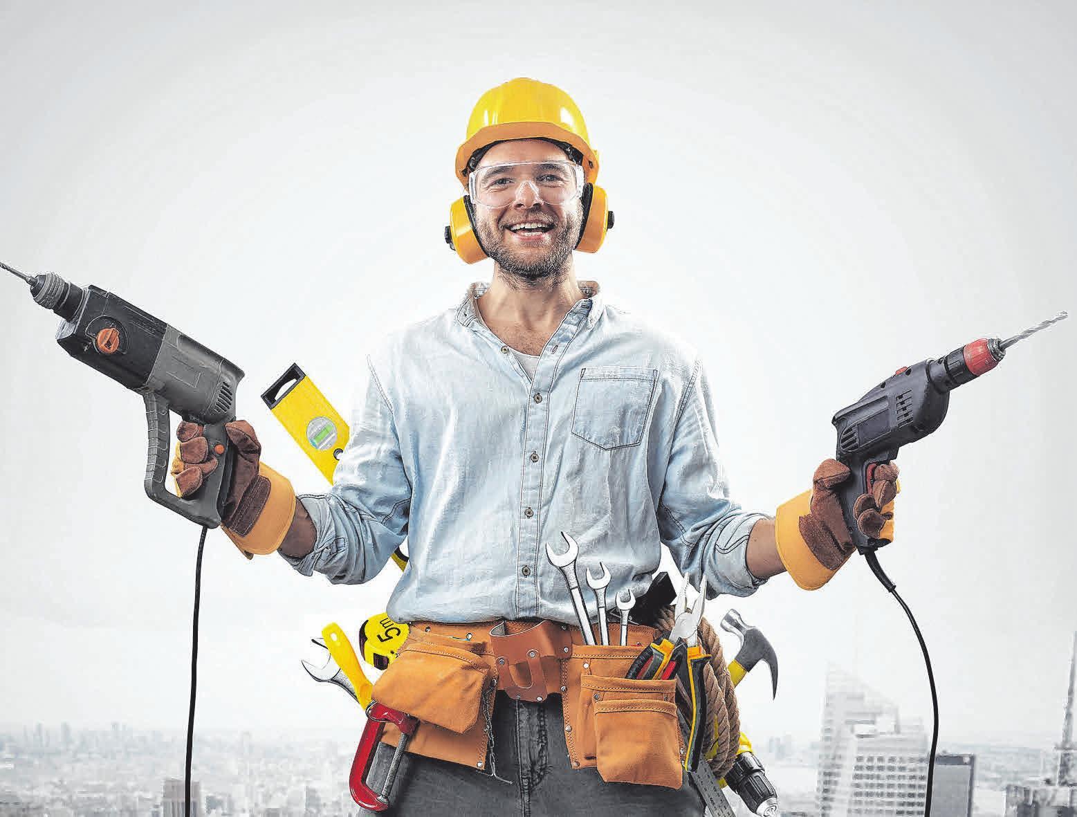 Wer mit seinen Händen arbeiten kann und einen krisensicheren Job sucht, ist im Handwerk genau richtig. Fotos: Colourbox