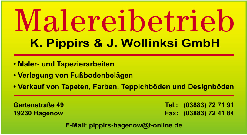Malereibetrieb K. Pippirs & J. Wollinksi GmbH