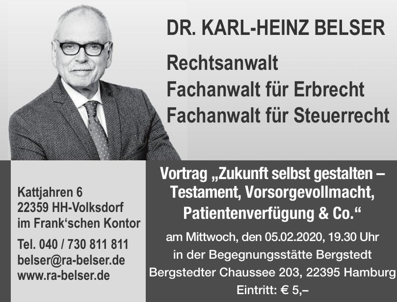 Dr. Karl-Heinz Belser