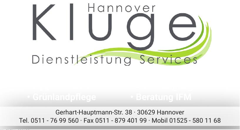 Dienstleistung Services Kluge Hannover