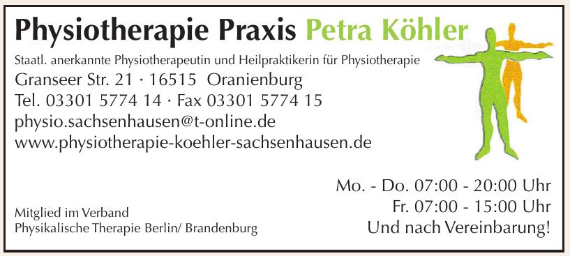 Physiotherapie Praxis Petra Köhler