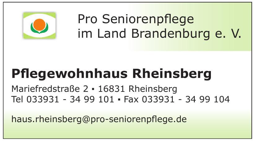 Pro Seniorenpflege im Land Brandenburg e. V.