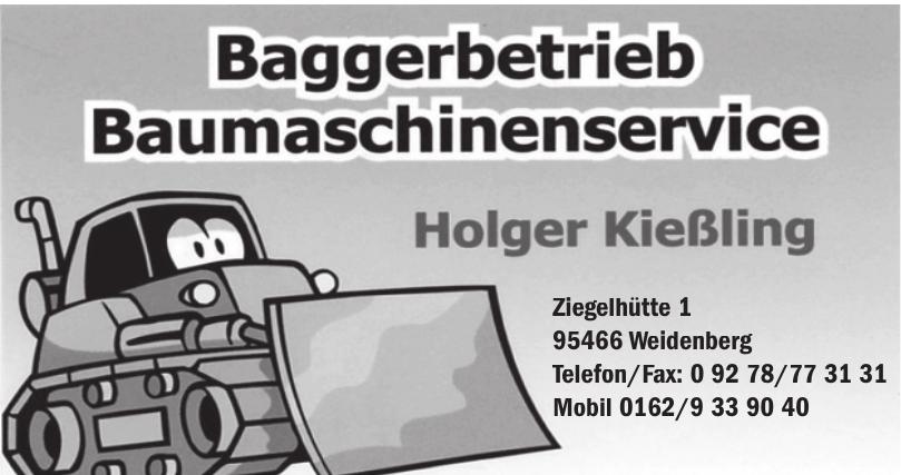 Baggerbetrieb Baumaschinenservice Holger Kießling
