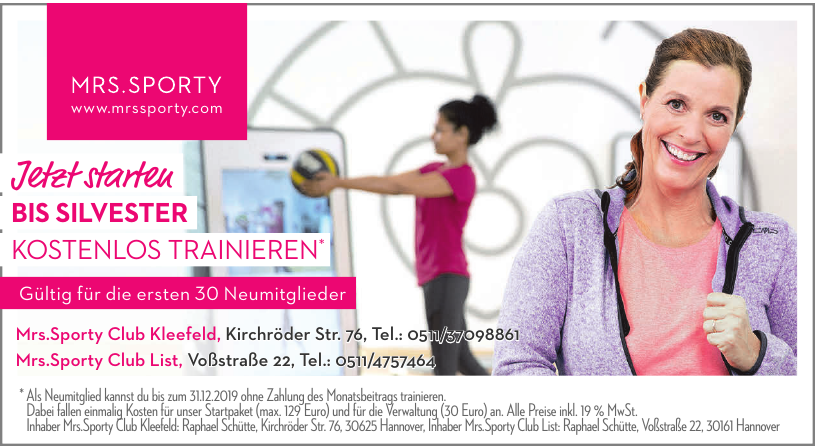 Mrs.Sporty Club Hannover-Kleefeld