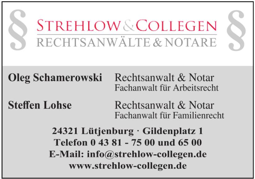 Herausgeber Strehlow & Collegen Rechtsanwälte und Notare
