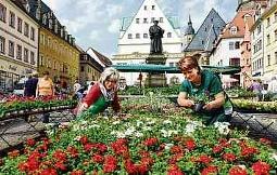 Am 13. April 2019 wird in der Lutherstadt Eisleben wieder der Frühling mit vielen tollen Angeboten der Händler begrüßt. FOTO: LUKASCHEK