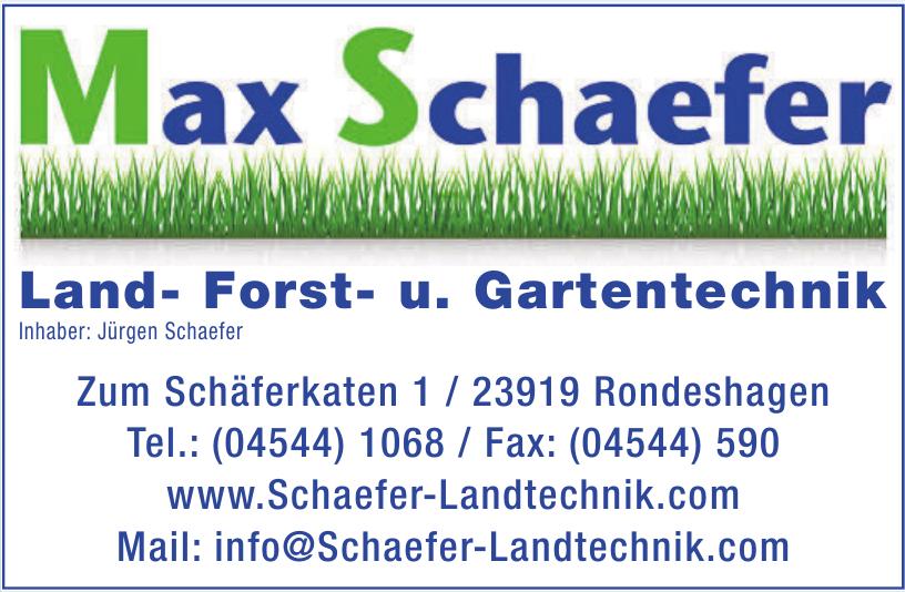 Max Schäfer Land- Forst- u. Gartentechnik