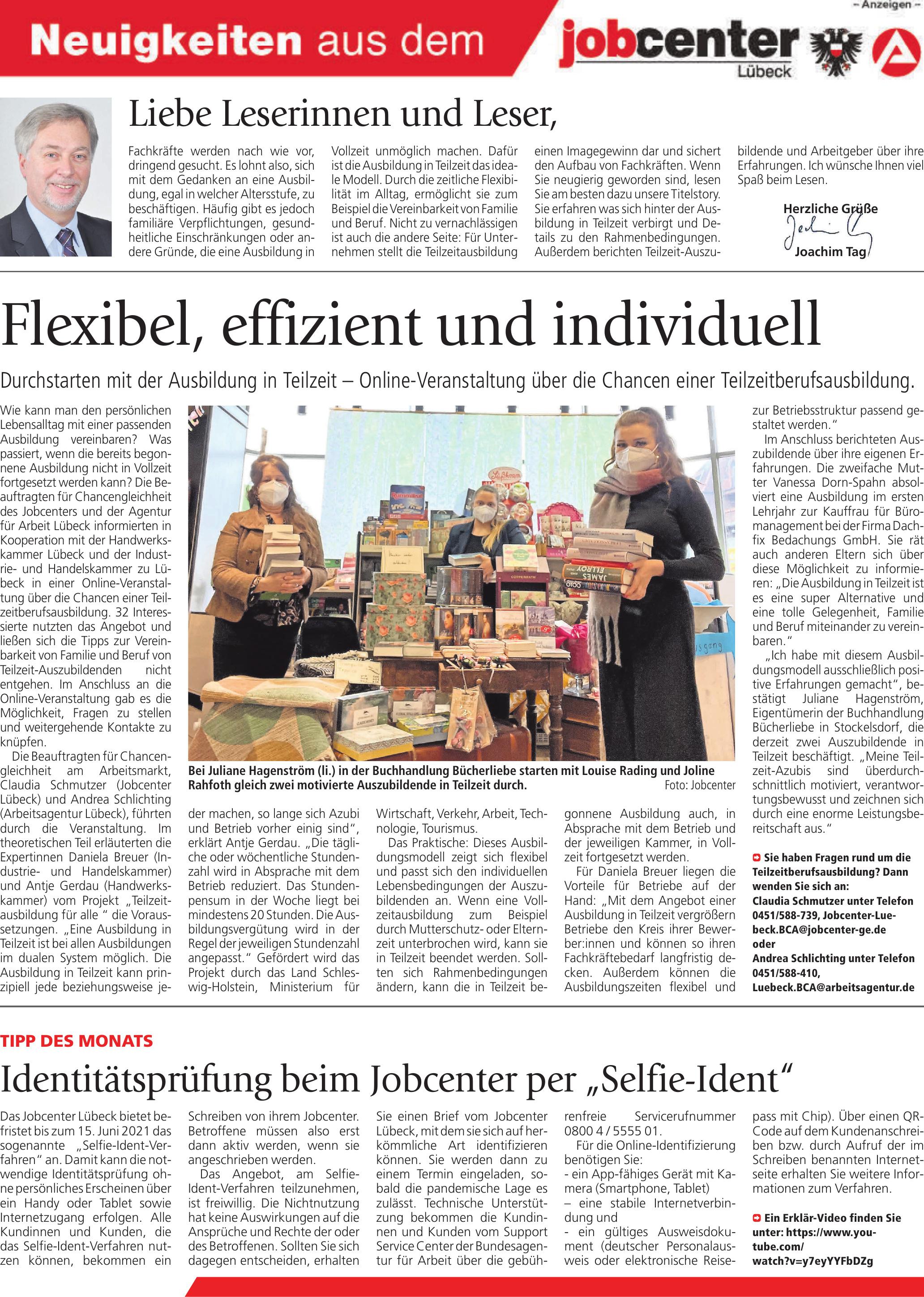 Neuigkeiten aus dem jobcenter Lübeck