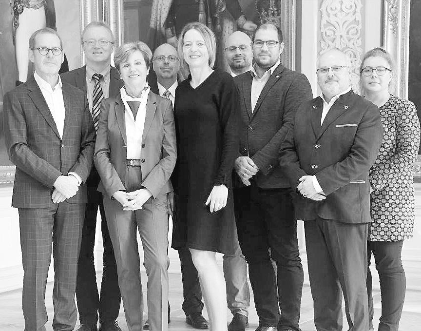 Empfang der Delegation aus Wien in den Räumen des Oberlandesgerichts Celle. Foto: ©OLG Celle, Jacqueline Laski