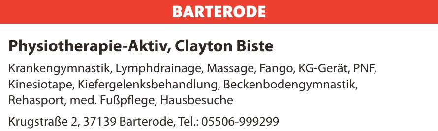 Physiotherapie-Aktiv, Clayton Biste