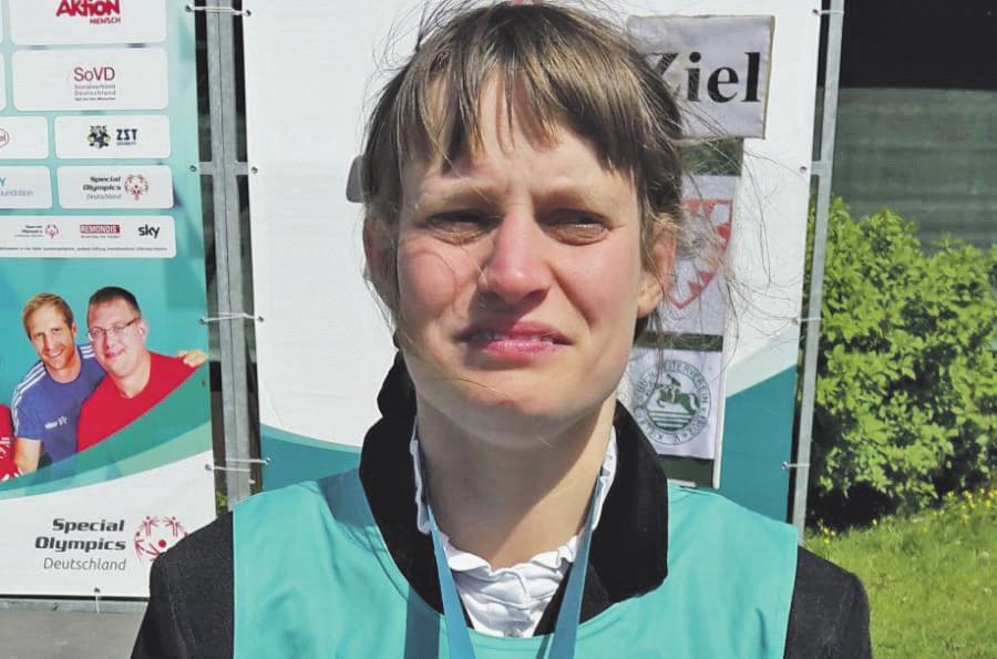 Goldmedaillengewinnerin: Celina Scholz vom RFV Isenbüttel startete bei den Nationalen Special Olympics.