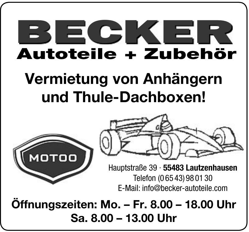 Becker Autoteile + Zubehör