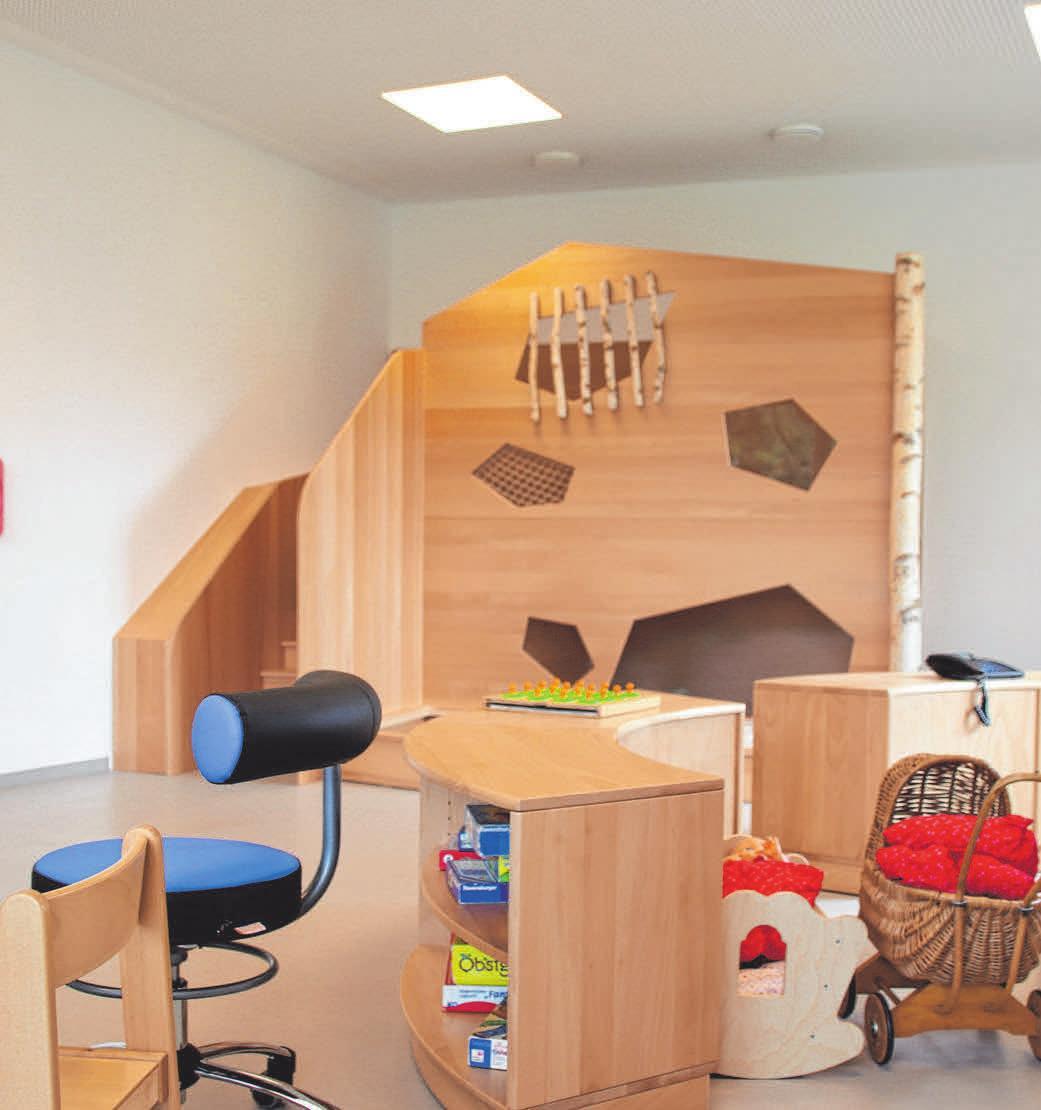 Spielecken bietet der neue Kindergarten genügend.