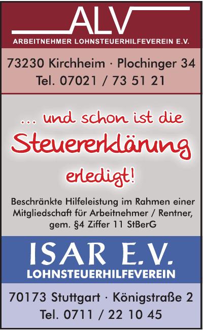 ALV Arbeitnehmer Lohnsteuerhilfeverein e. V.