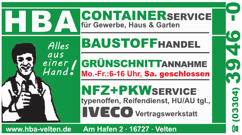 HBA Container Service