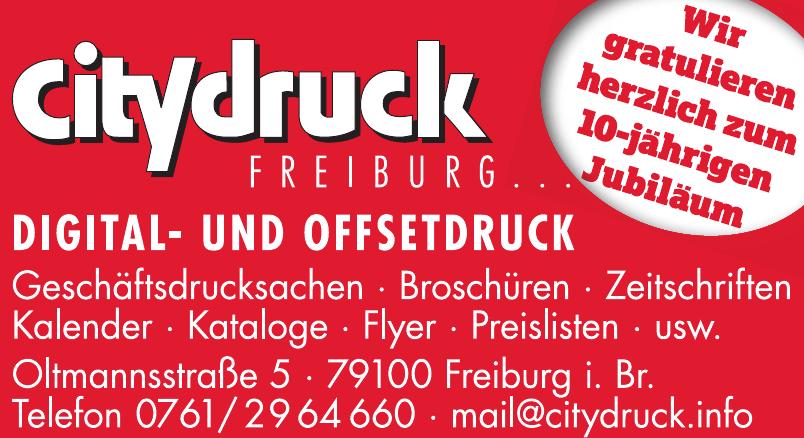 Citydruck Freiburg