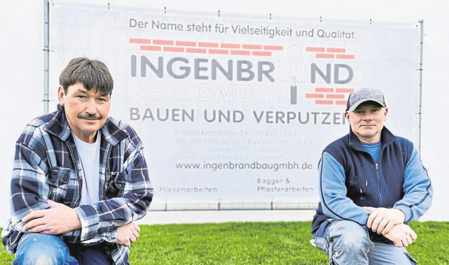 Dietmar Pieroth (Meister) und Zolt Zaki unterstützen die Ingenbrand Bau GmbH seit 1996 und sind kompetente Ansprechpartner für die Kunden.
