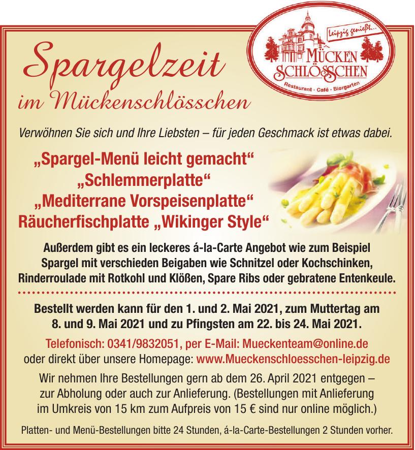 Mücken Schlösschen Restaurant, Café, Biergarten