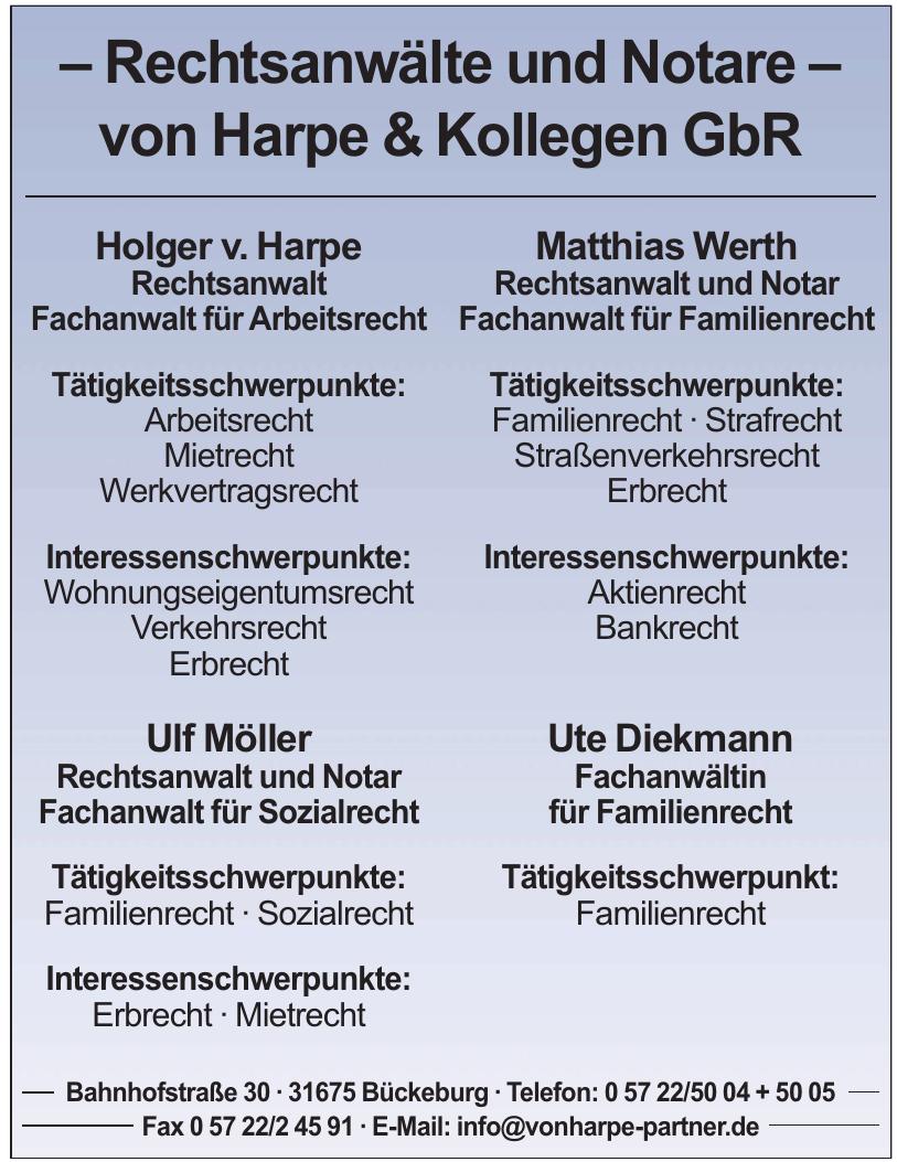 Rechtsanwälte und Notare - von Harpe & Kollegen GbR