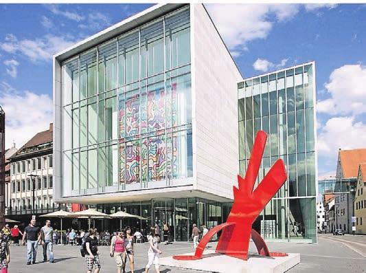 Neue Mitte in Ulm: die Kunsthalle Weishaupt. Foto: StadtArchiv Ulm