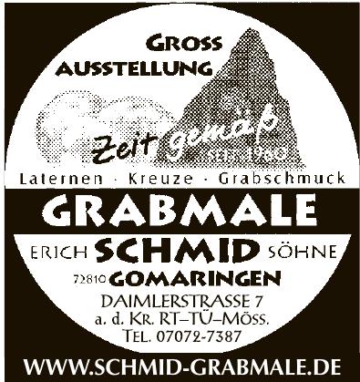Grabmale Erich Schmid Söhne