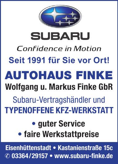 Autohaus Finke - Wolfgang und Markus Finke GbR