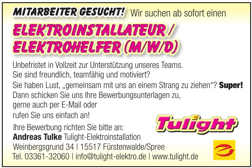 Tulight-Elektroinstallation