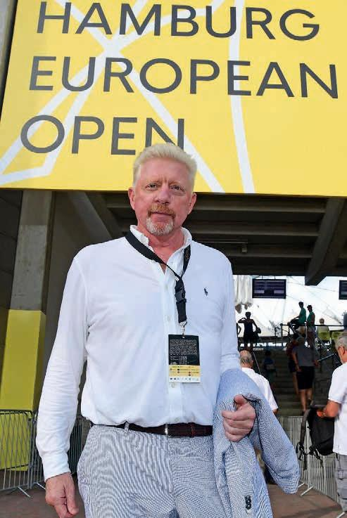 Boris Becker, Head of Men's Tennis, beobachtete die deutschen Spieler. Foto Alexander Scheuber/ Hamburg European Open