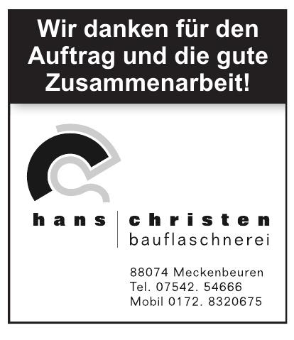 Hans Christen Bauflaschnerei