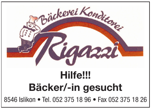 Rigazzi Bäckerei, Konditorei