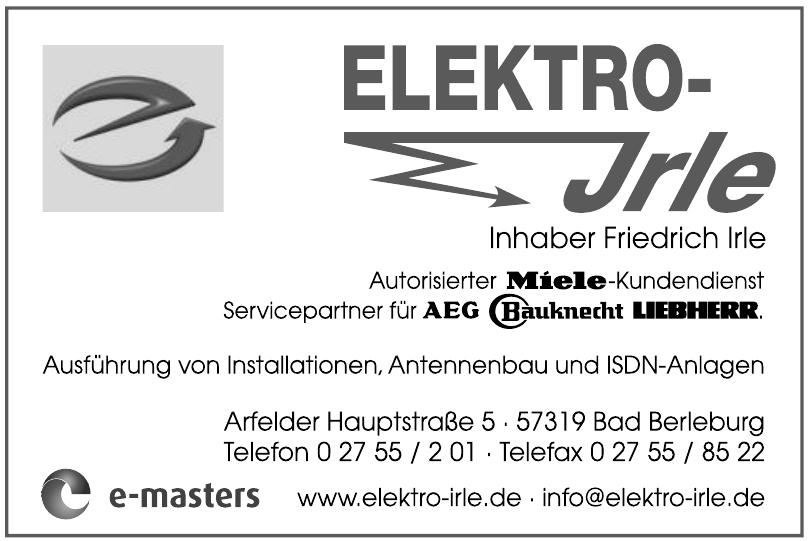 Elektro Irle, Inhaber Friedrich Irle