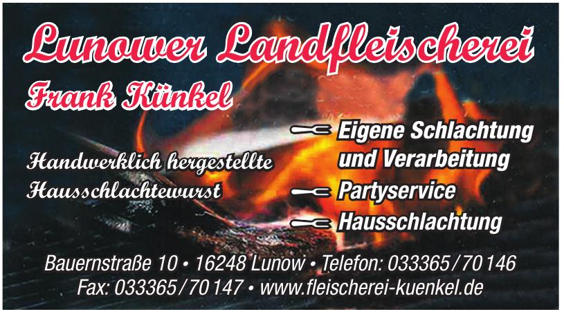 Lunower Landfleischerei Frank Künkel