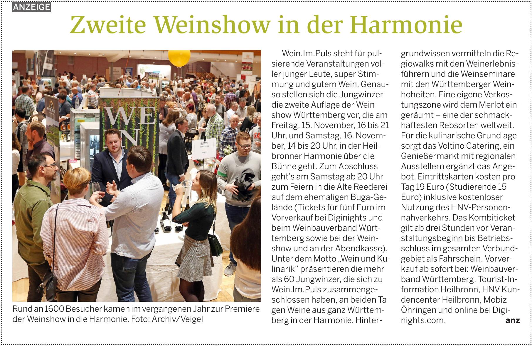Zweite Weinshow in der Harmonie