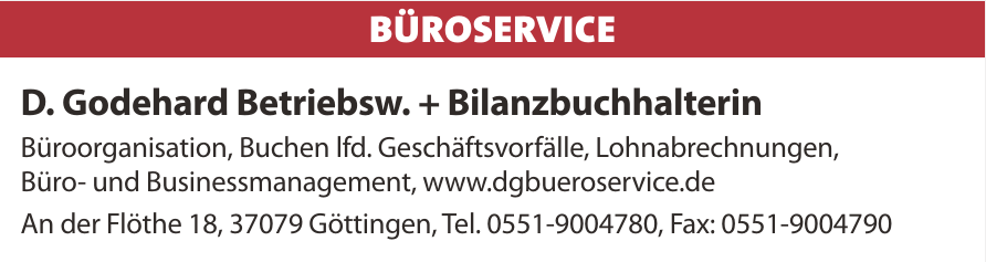 D. Godehard Betriebsw. + Bilanzbuchhalterin