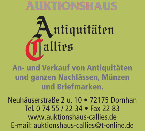 Auktionshaus Callies