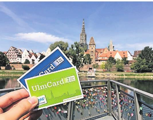 Die UlmCard hat für Besucher der Stadt viele Vorteile. Foto: S. Braunwarth