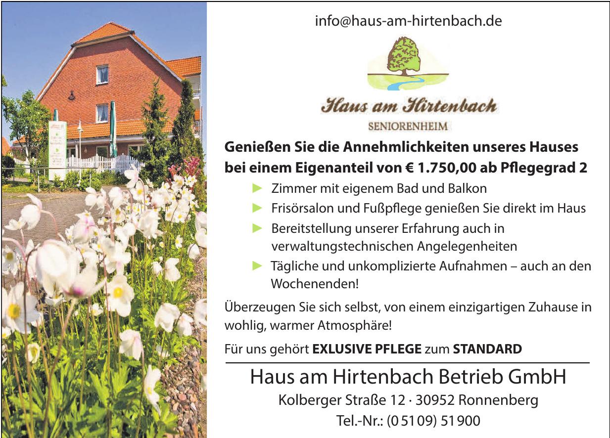 Haus am Hirtenbach Betrieb GmbH