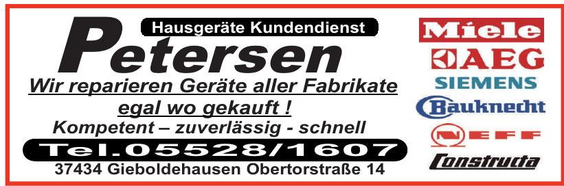 Petersen Hausgeräte Kundendienst