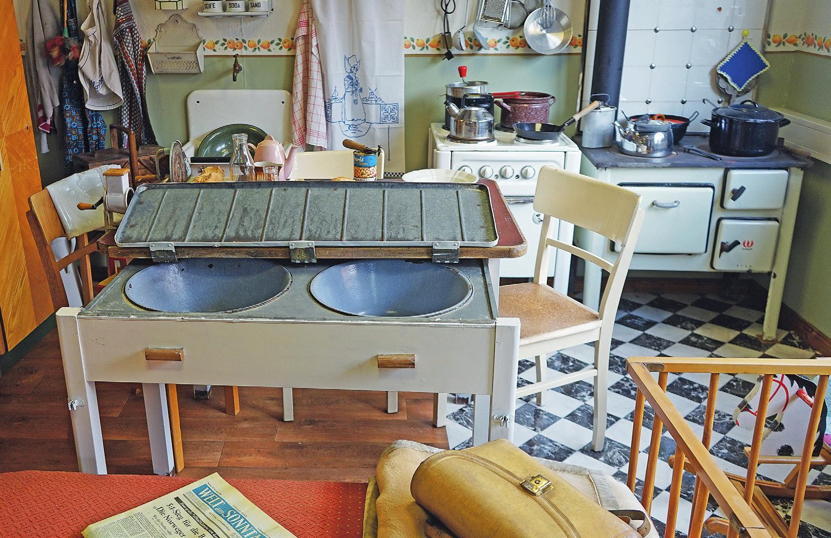 Küche in der Museumswohnung.