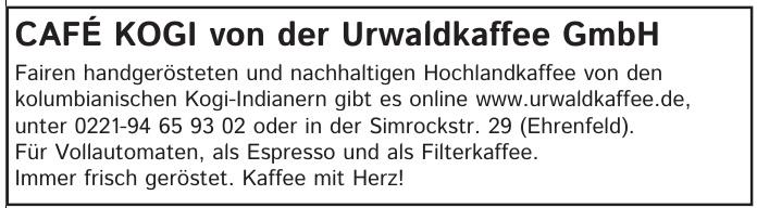 CAFÉ KOGI von der Urwaldkaffee GmbH