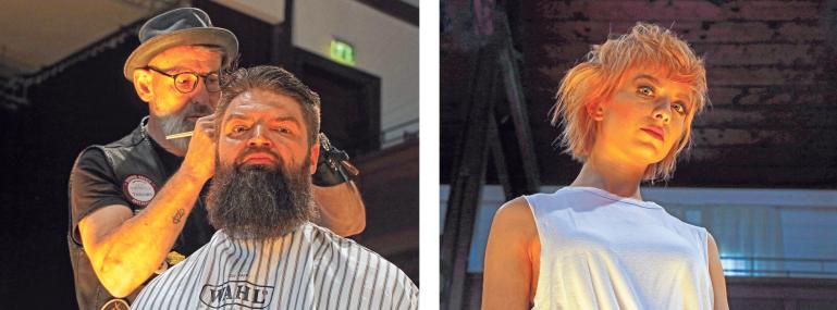Peter von den Barber Angels. Kurze Haare sind im Trend.