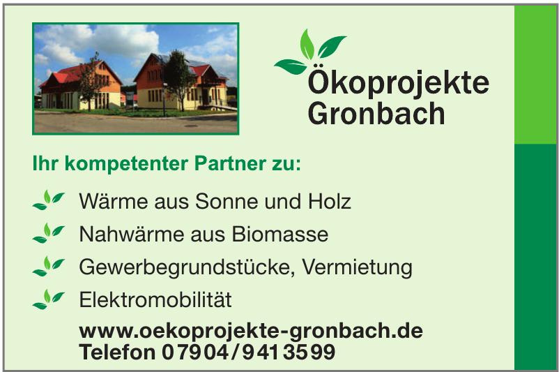 Ökoprojekte Gronbach