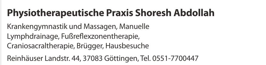 Physiotherapeutische Praxis Shoresh Abdollah