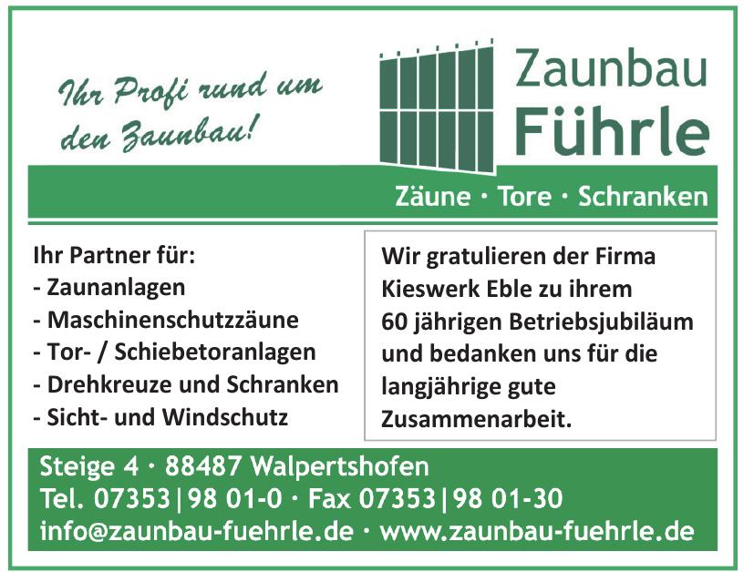 Zaunbau Führle GmbH & Co. KG