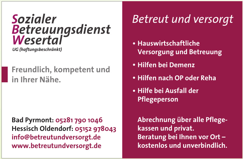 Sozialer Betreuungsdienst Wesertal