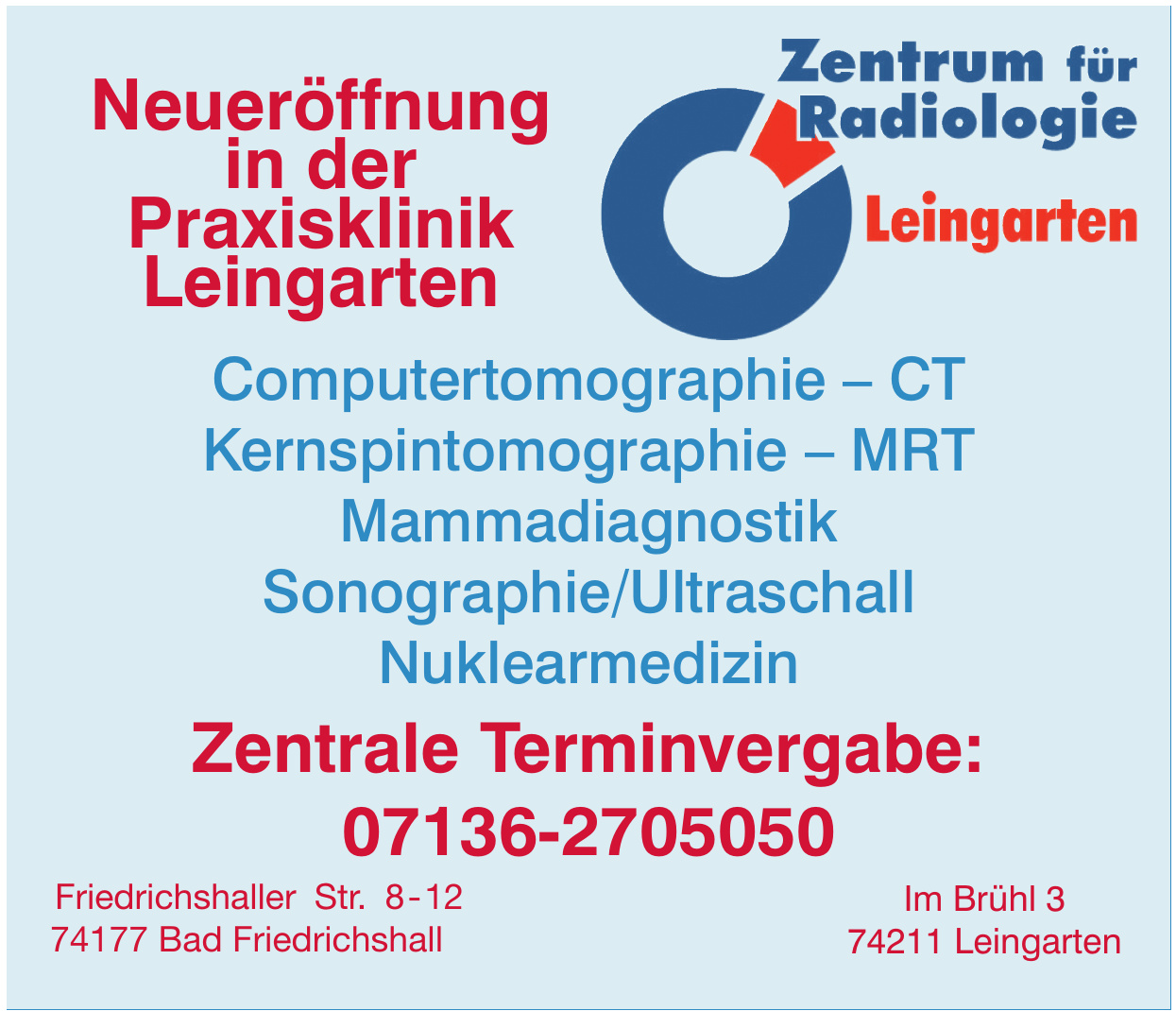 Zentrum für Radiologie Leingarten