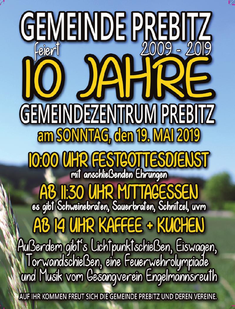 10 Jahre Gemeindezentrum Prebitz
